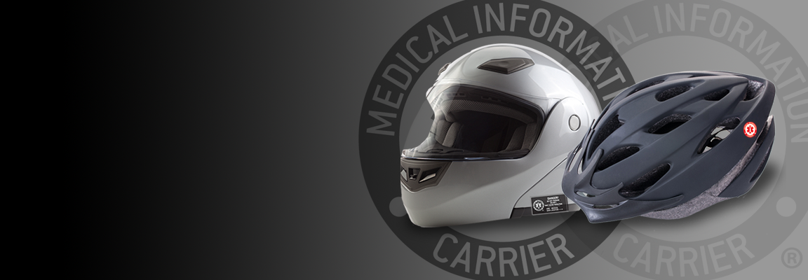 Put a medical information carrier on every helmet!